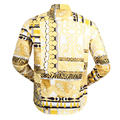 Versace Jeans Mens Slimmer Fit Gold Pop Print Long Sleeves Shirt with Darted Back VJC6987