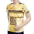 Versace Jeans Mens Cotton Short Sleeves Regular Fit Gold Pop Printed Crew Neck T-Shirt VJC6989