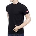 Dsquared2 Short Sleeve Black Slim Fit Crew Neck Red Sleeve Logo Printed T-Shirt for Men DSQ28346