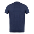 Dsquared2 Mens Navy Blue Crew Neck Slim Fit T Shirt with Red Sleeve Logo Print DSQ28347