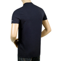 Dsquared2 Black Slim Fit Short Sleeve Crew Neck T-Shirt for Men with Grey Text Sleeve Logo Print DSQ27847