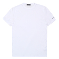 Dsquared2 White Crew Neck Short Sleeve Grey Text Sleeve Logo Printed Slim Fit T-Shirt for Men DSQ27845