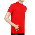 Dsquared2 Mens Crew Neck Grey Text Sleeve Logo Printed Short Sleeve Slim Fit Red T Shirt DSQQ27846