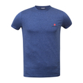 Dsquared2 T Shirt With Printed Maple Leaf Logo In Blue DSQ27527