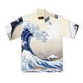 Sun Surf Great Wave of Kanaqawa Mens Hawaiian Shirt Off White SURF7539