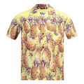 Sun Surf Mens Regular Fit Short Sleeved Pineapple Printed SS36441 Yellow Rayon Hawaiian Shirt SURF7569