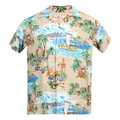 Sun Surf Mens Regular Fit Short Sleeved Island Chronicle Print SS37781 Beige Rayon Hawaiian Shirt SURF8591