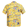 Sun Surf Mens Regular Fit SS37787 Short Sleeved Yellow Rayon The Song of Hawaii Printed Hawaiian Shirt SURF9038