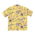 Sun Surf Mens Regular Fit SS37787 Short Sleeved Yellow Rayon The Song of Hawaii Printed Hawaiian Shirt SURF9038