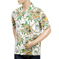 Sun Surf Mens Regular Fit Short Sleeved Dreams and Pineapples Print SS37774 Off White Rayon Hawaiian Shirt SURF8589