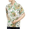 Sun Surf Mens Regular Fit Short Sleeved Dreams and Pineapples Print SS37774 Off White Rayon Hawaiian Shirt SURF8589