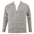 Thug or Angel Sweater Men's Jet Black collection  grey-marl zip-up  showl collar knitted cardigan. JBLK3904