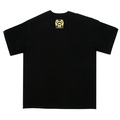RMC Jeans Black Crew Neck Short Sleeve Regular Fit T-Shirt with PIRATES Print REDM0022