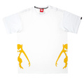 RMC Jeans White Crew Neck Short Sleeve Regular Fit T-Shirt with Half Monkey Prints REDM0030