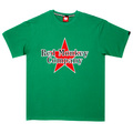 RMC Jeans Green Crew Neck Short Sleeve Regular Fit T-Shirt with Red Star Print REDM0039