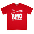 RMC Jeans Red Short Sleeve Regular Fit Crew Neck 100% Cotton T-shirt with Enjoy RMC Print REDM3480