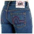 Evisu Dark indigo Straight Leg Low Waist Denim Jeans for Women EVIS2445