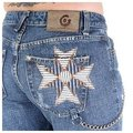 Fake London Genius womens low waist denim jeans FAKE2526