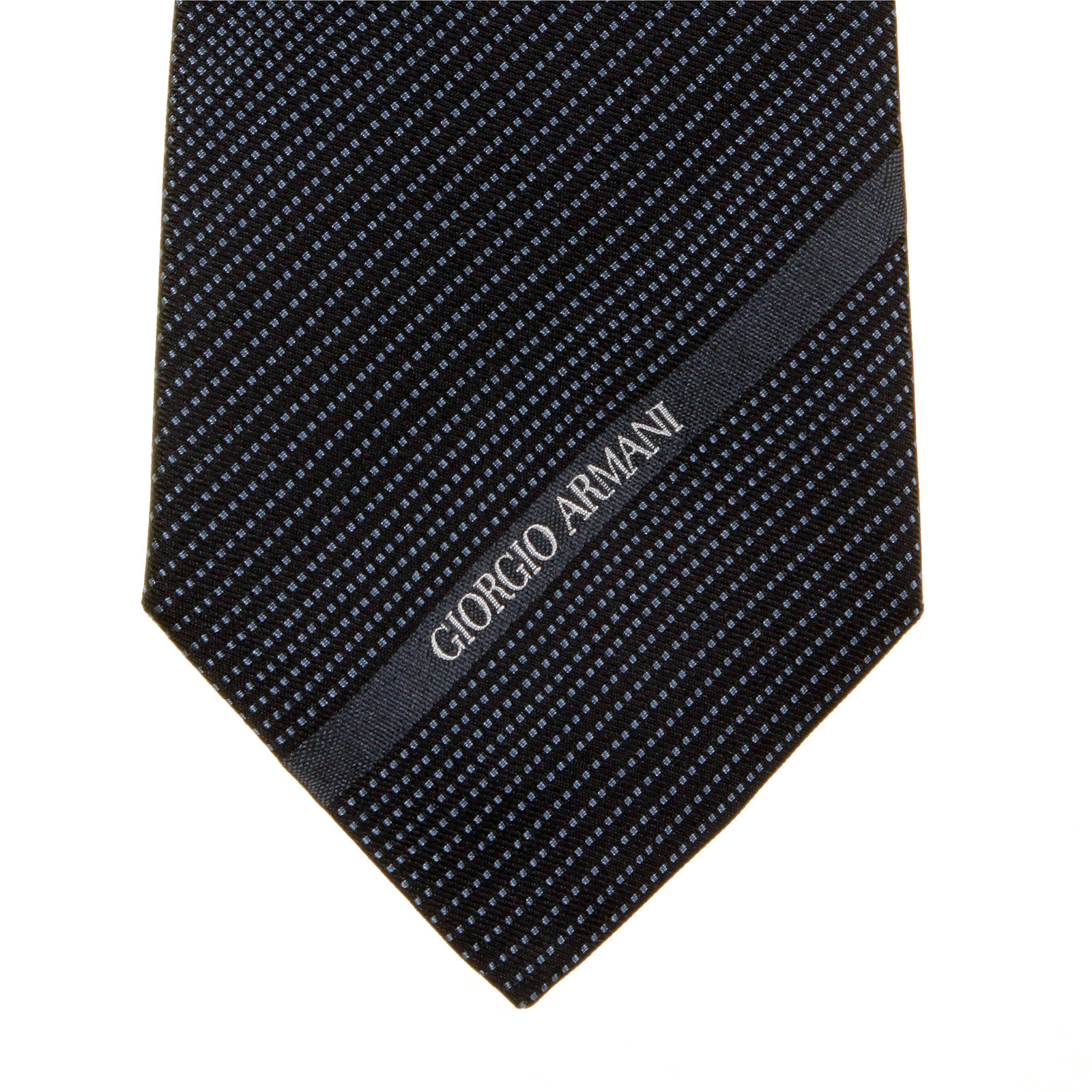 Tie Giorgio Armani Black Pin Dot Silk Tie 19w316 Gam1139