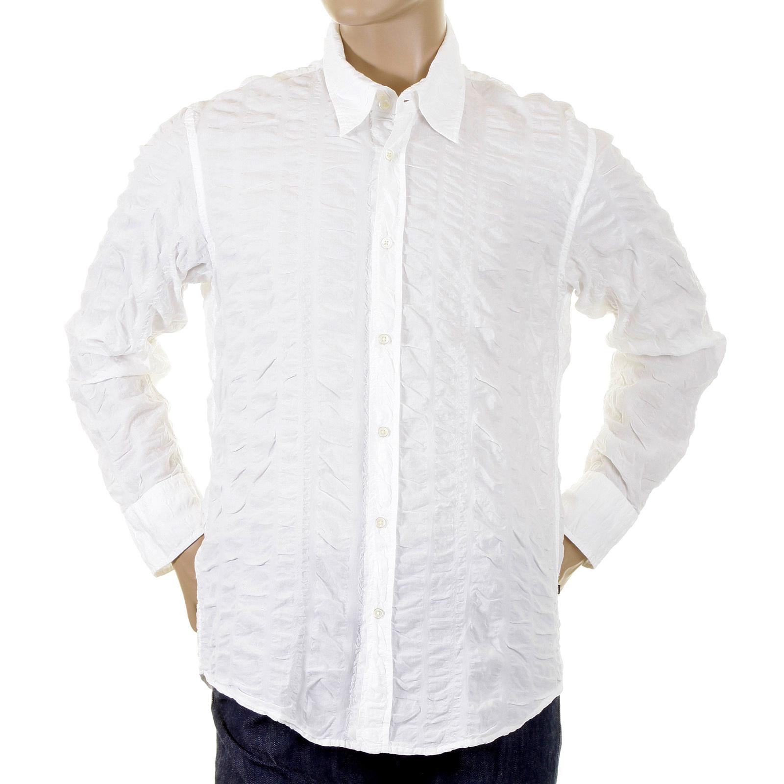 hugo boss lucas white casual shirt 05793 boss1387 at