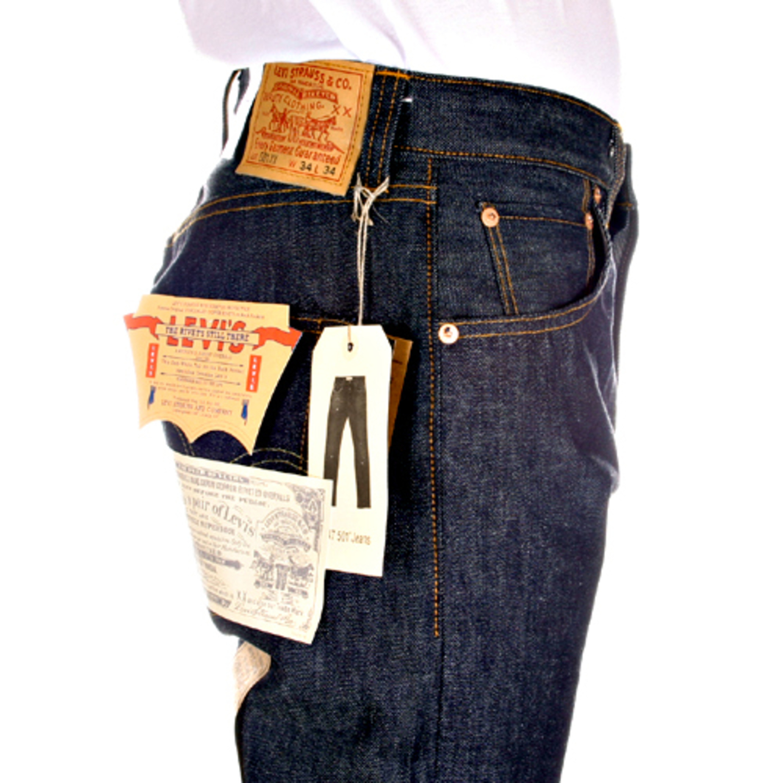 1aa47580f13b7 Levi s jeans Vintage Mens 1947 501 Relaxed Fit Dry Selvedge XX Blue Denim  Jean LEVI4099 at Togged Clothing