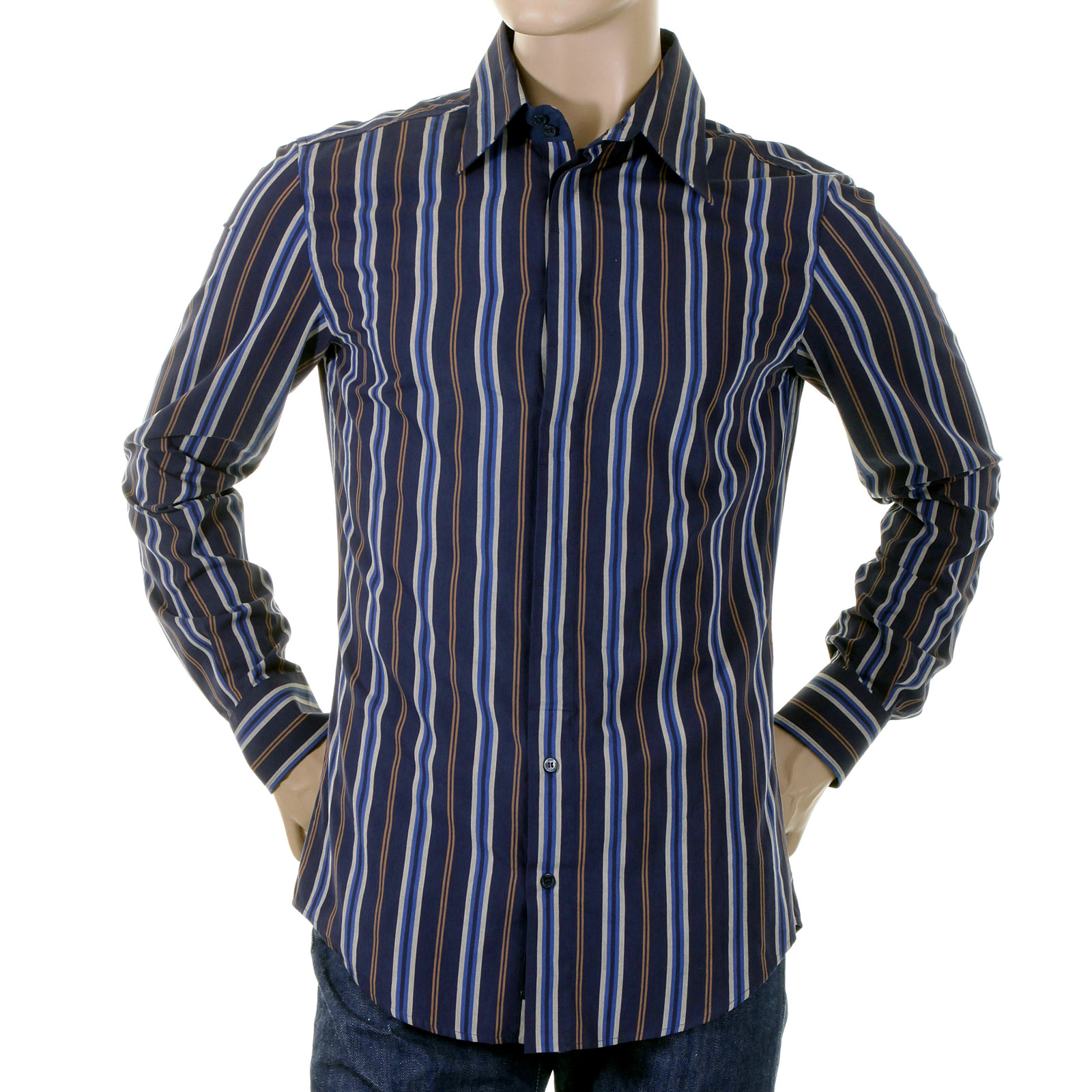 Striped Casual Shirts. Refresh your wardrobe with the colorful collection of finely appointed men's striped casual shirts from Paul Fredrick. Our striped shirts for men features handsome striped designs in cool, contemporary colors and prints for a polished statement.