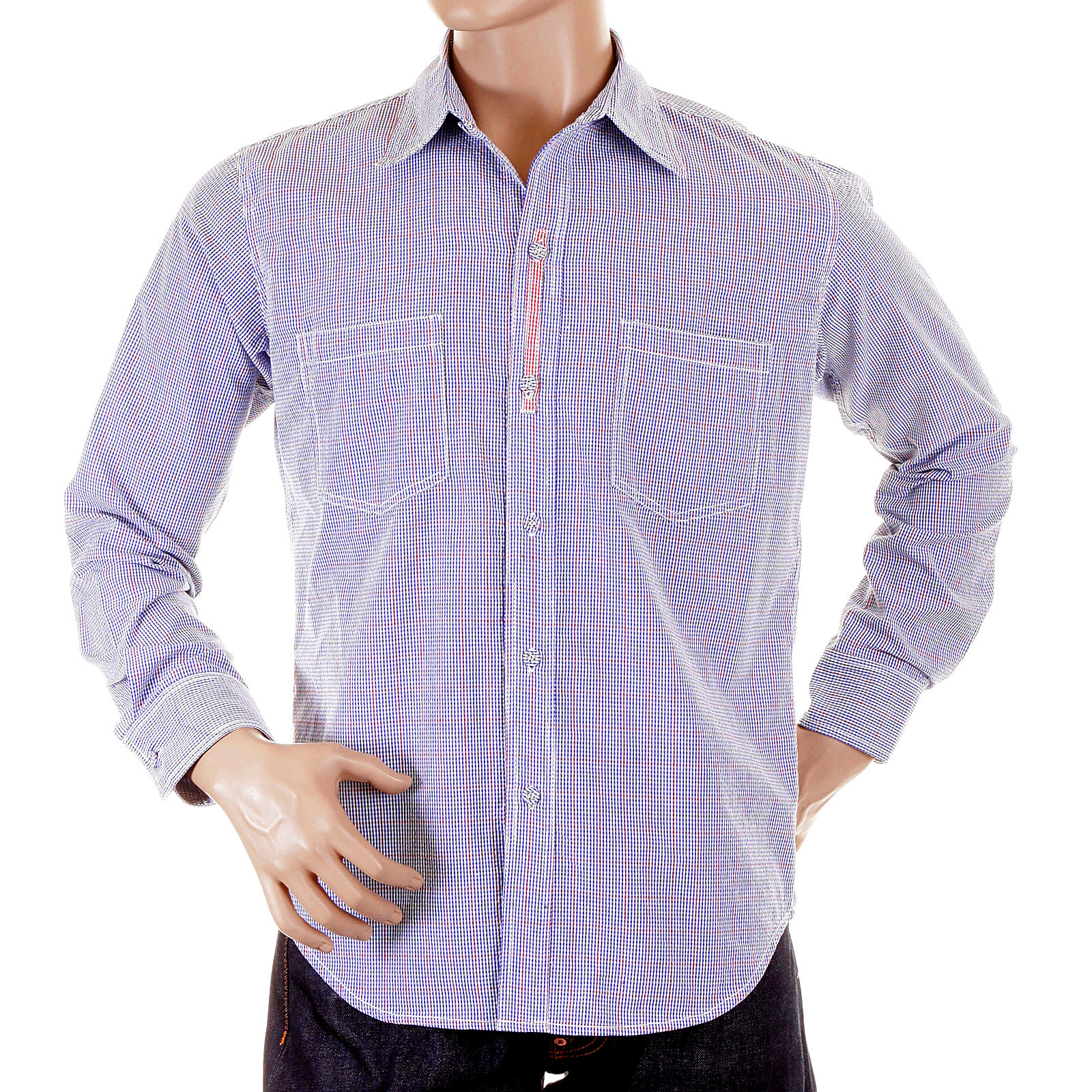 Yoropiko Blue Checked Shirt To Be Office Ready In Style