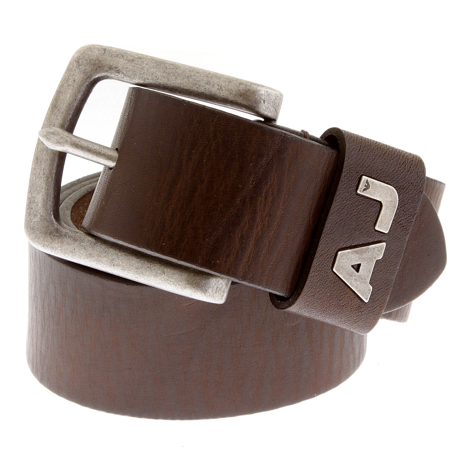armani m611 675 chocolate brown leather belt ajm2216