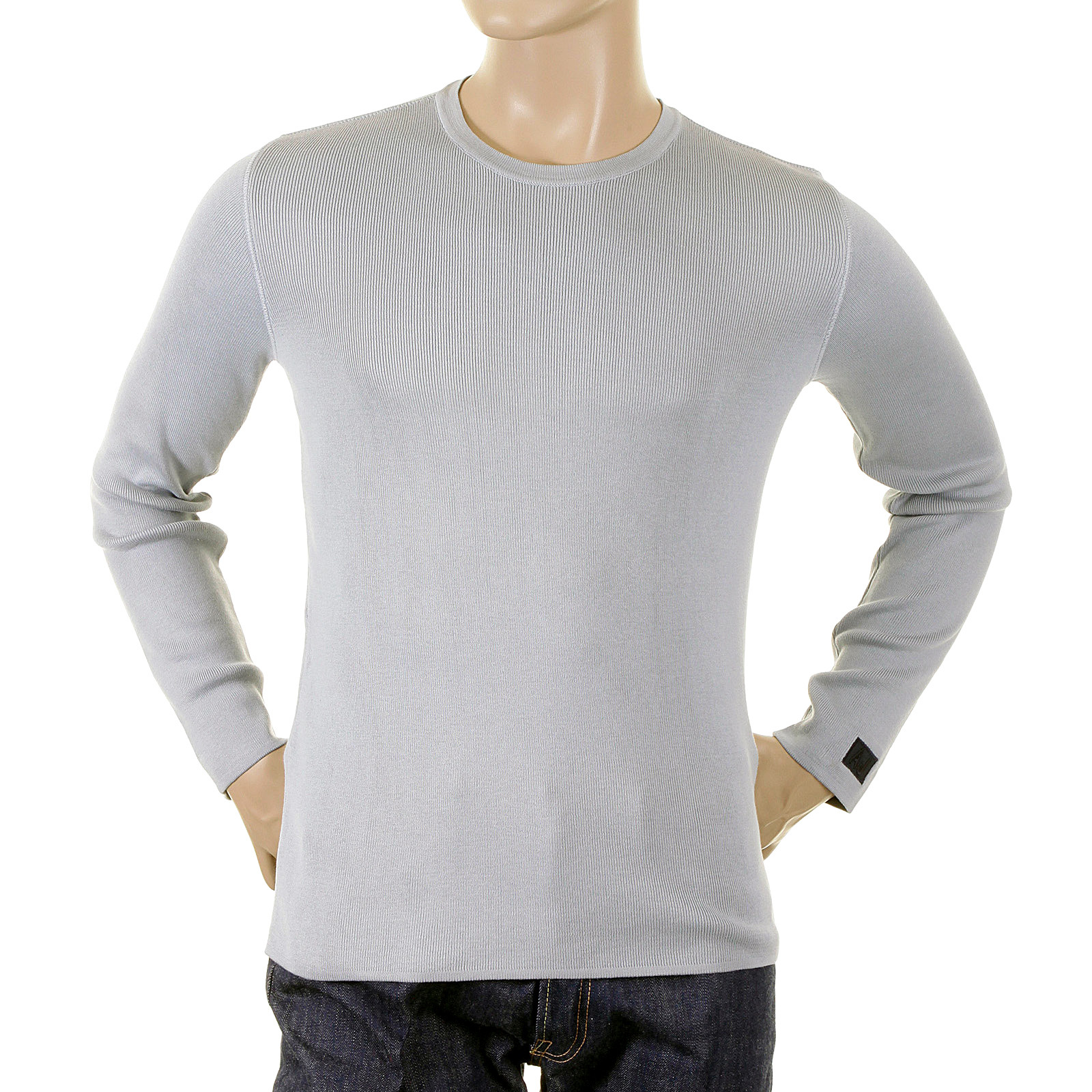 731089caa25 Armani Jeans jumper knitwear mens B6W33 Q4 grey knitwear jumper top AJM1025