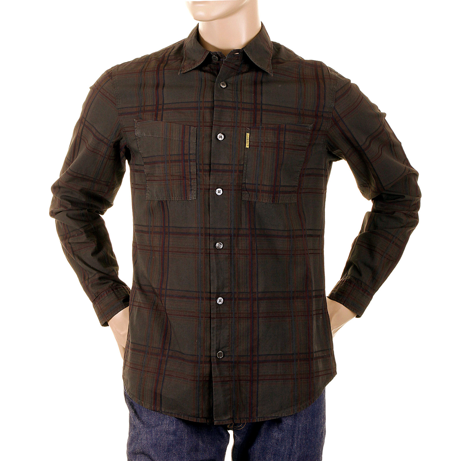 how to wear a checked shirt with jeans