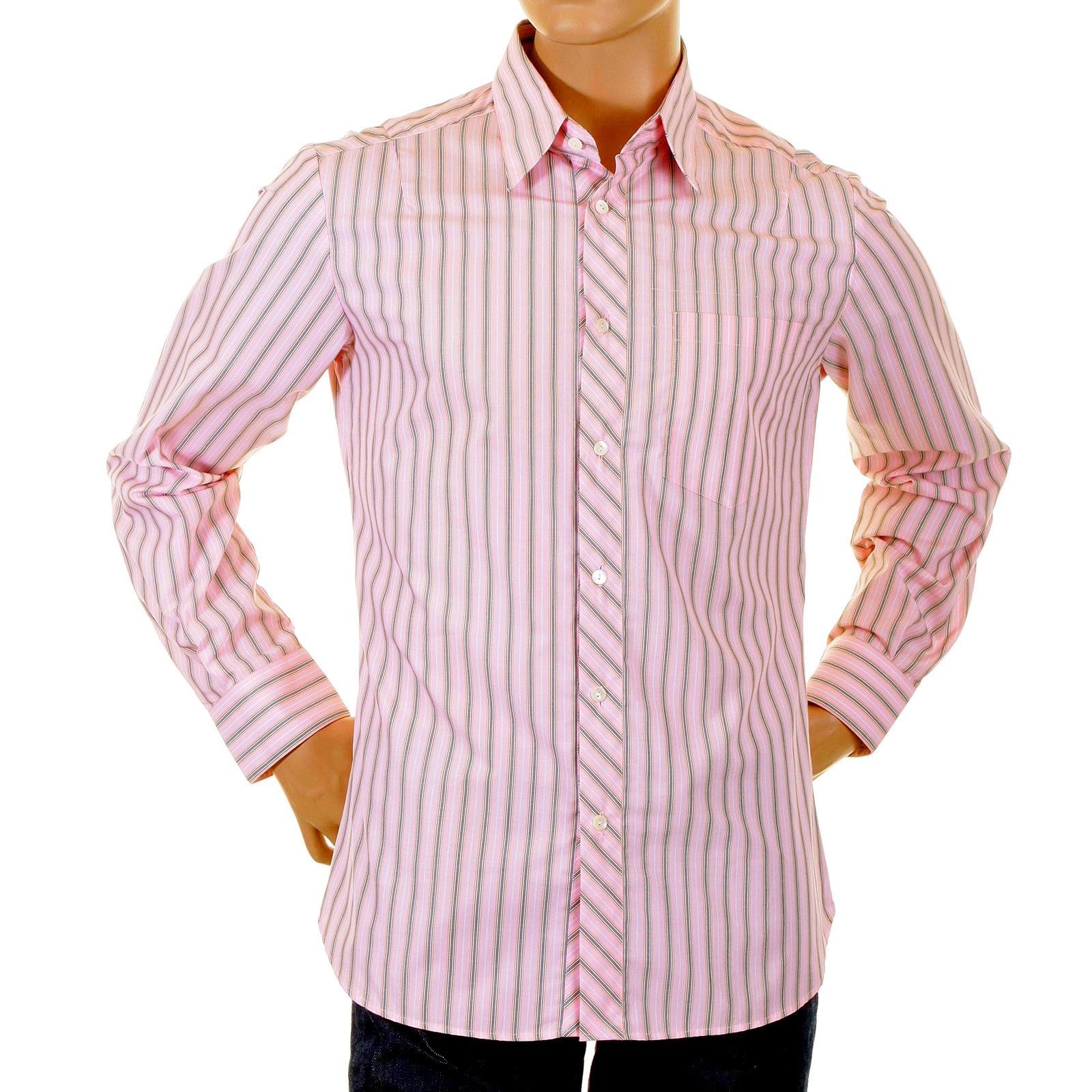 Striped Pink Shirt | Is Shirt