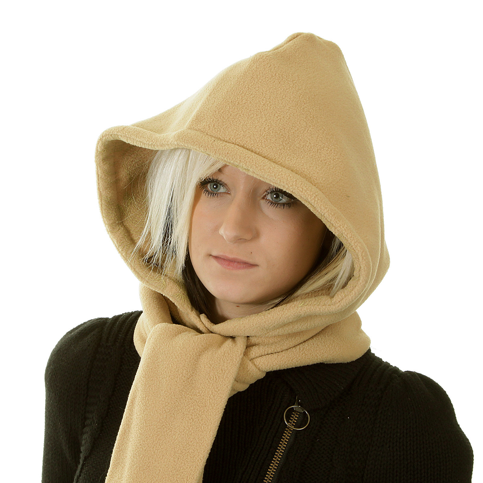 Rmc Hooded Scarf Martin Ksohoh Latte Hooded Snood Scarf