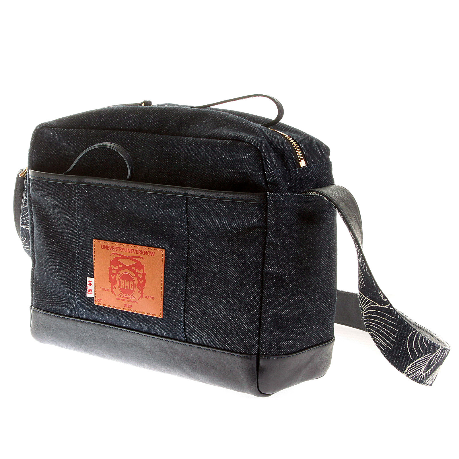 216efce33084 RMC Jeans Fully Lined Unisex Denim with Leather Despatch Bag REDM5527