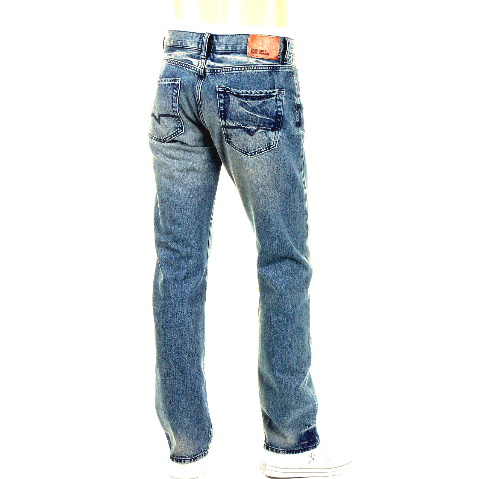 boss orange jeans hb25 50177602 420 selvage hugo boss denim jean. Black Bedroom Furniture Sets. Home Design Ideas