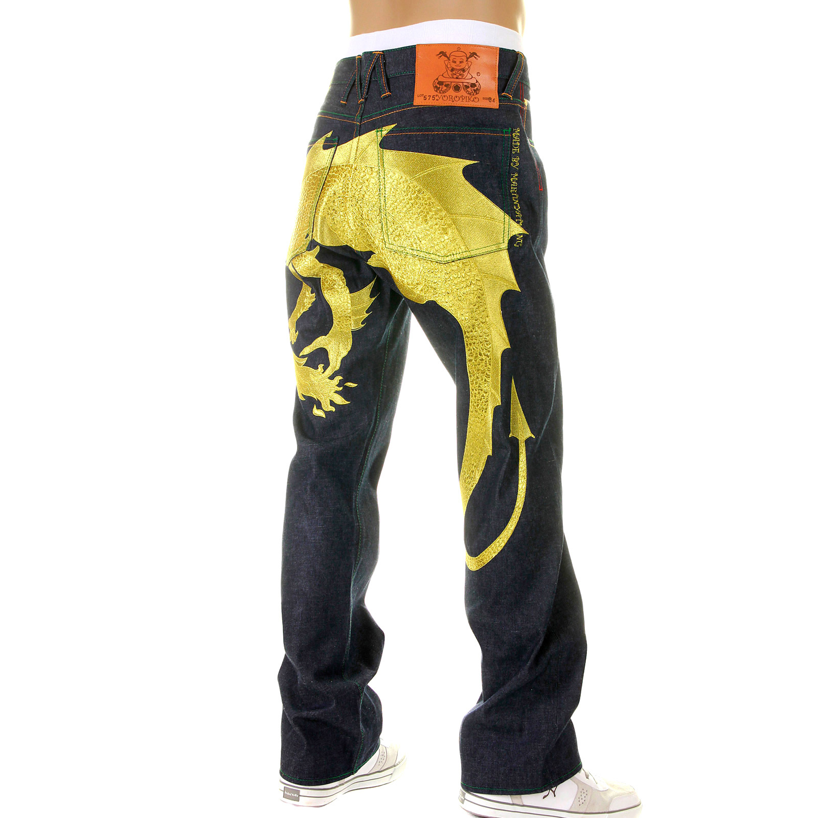 yoropiko gold hungry dragon raw selvedge japanese denim jeans