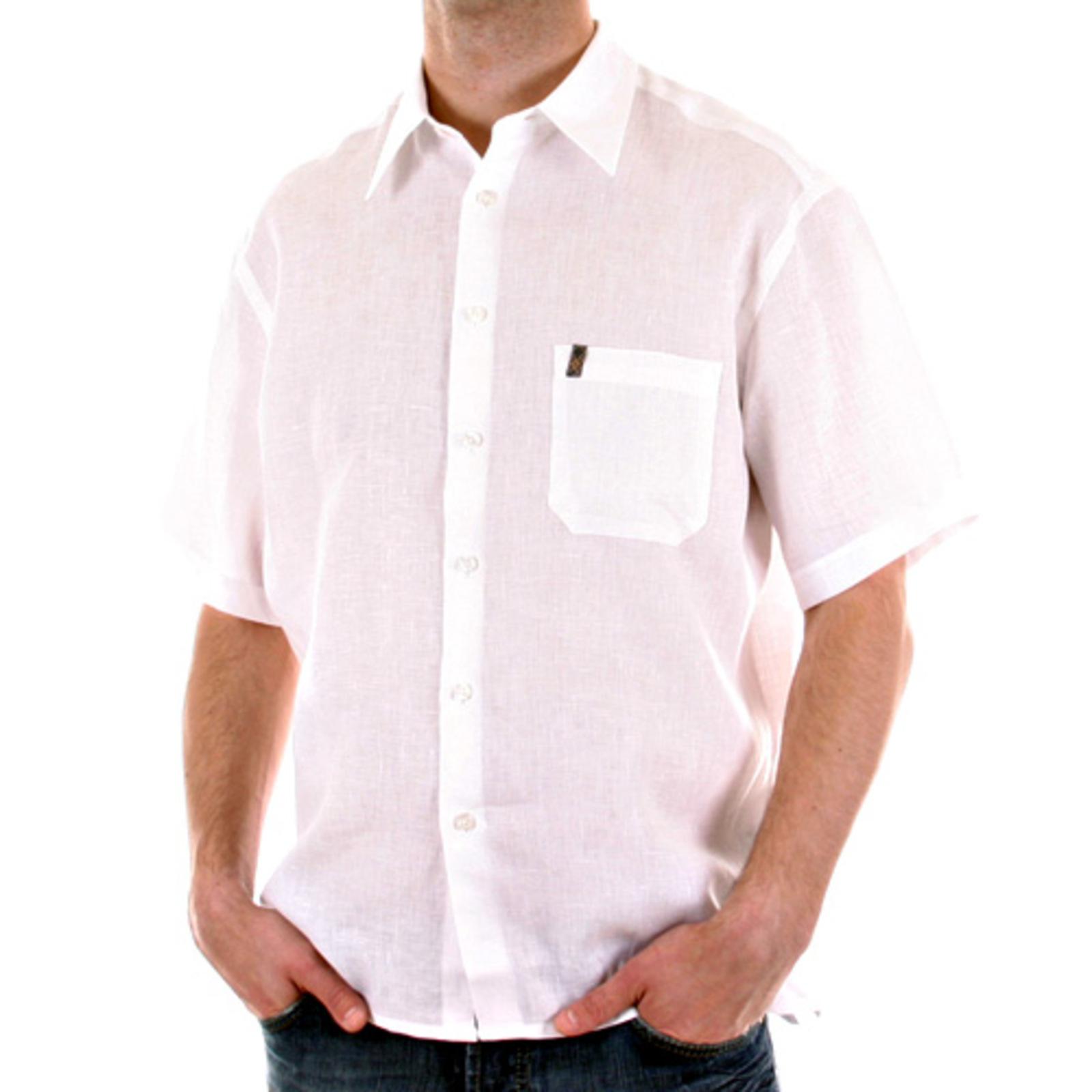 Burberry white linen mens short sleeve shirt at togged for Mens short sleeve linen dress shirts