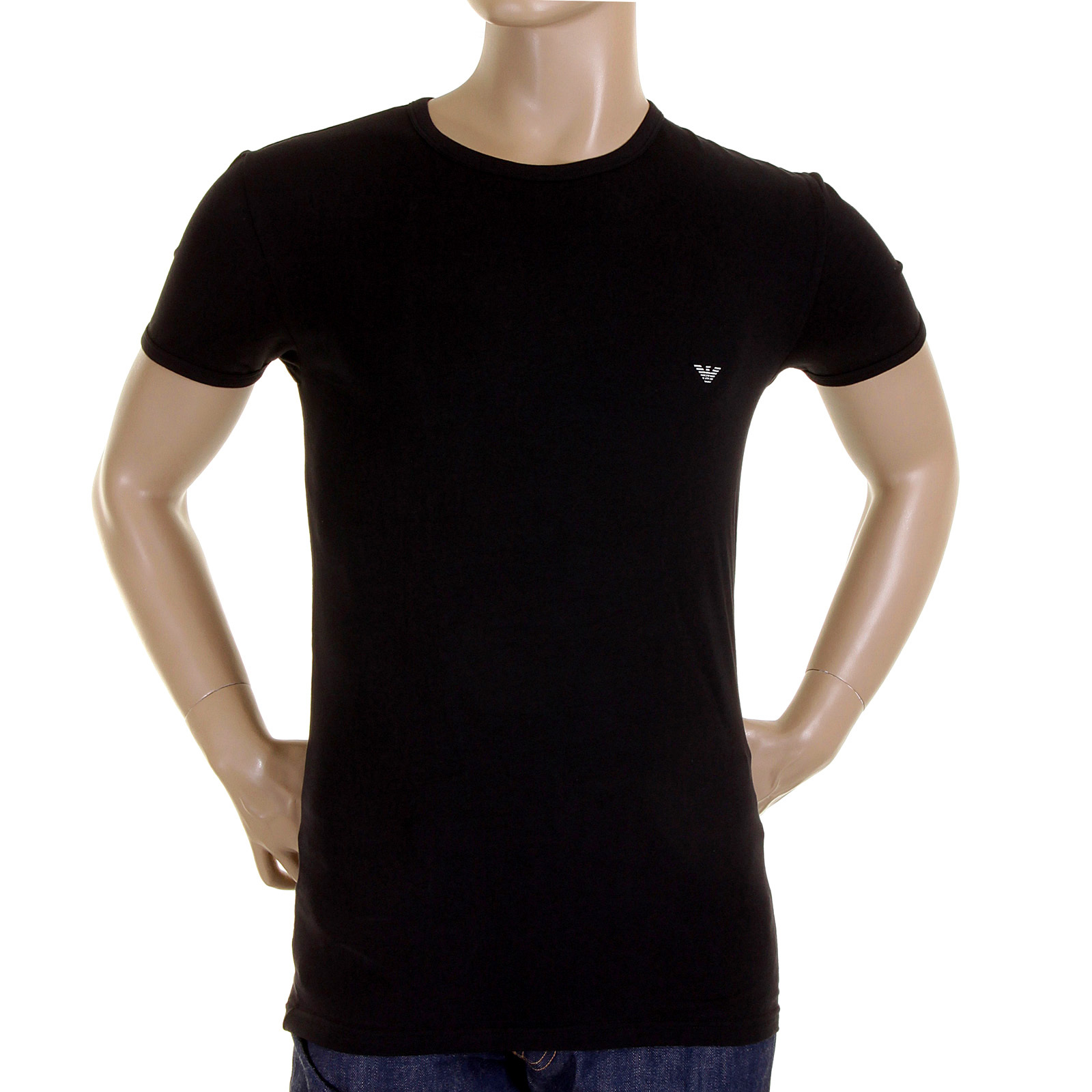 emporio armani t shirt black crew neck t shirt 111317