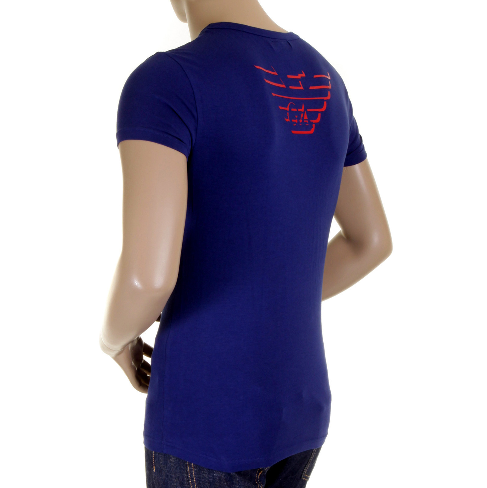 f5ca693044acc Emporio Armani t shirt china blue v neck t shirt 110752 1S512 EAM1506