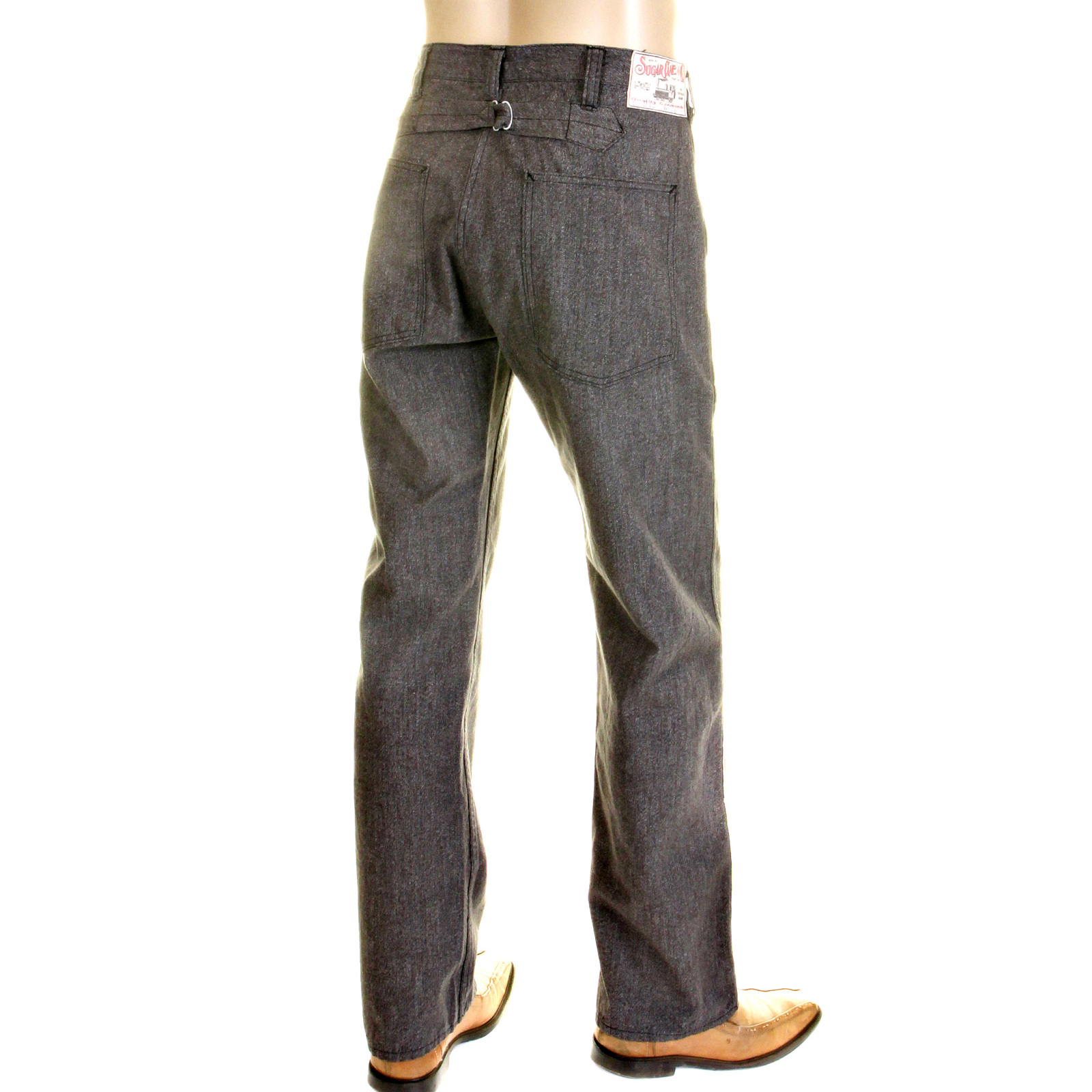 Brand new Shop for Mens Vintage Cut Grey Pants from Sugar Cane UT61