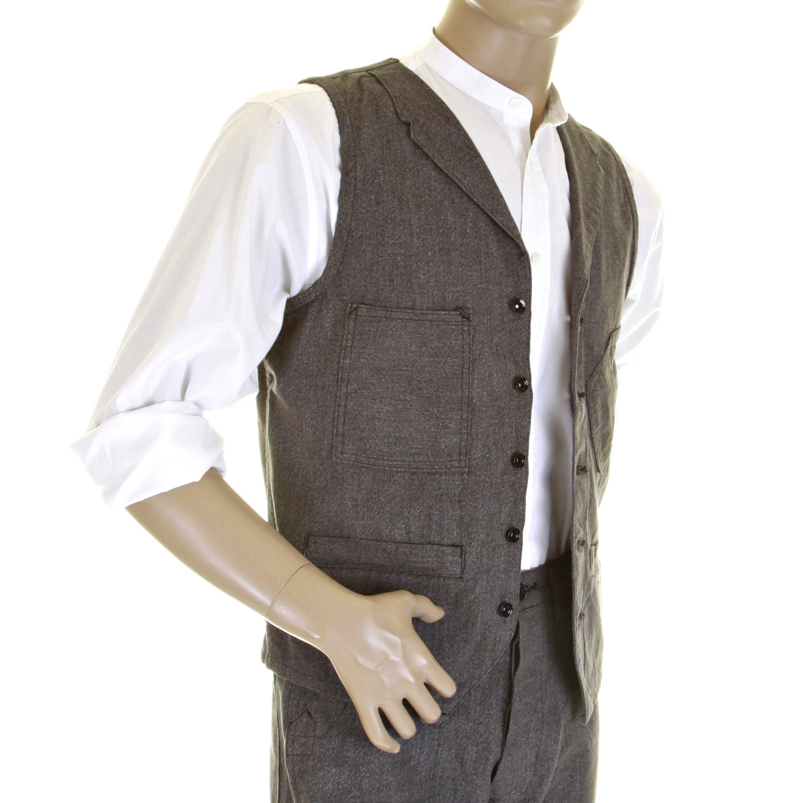 Buy The Charcoal Black Work Vest From Sugarcane Jeans