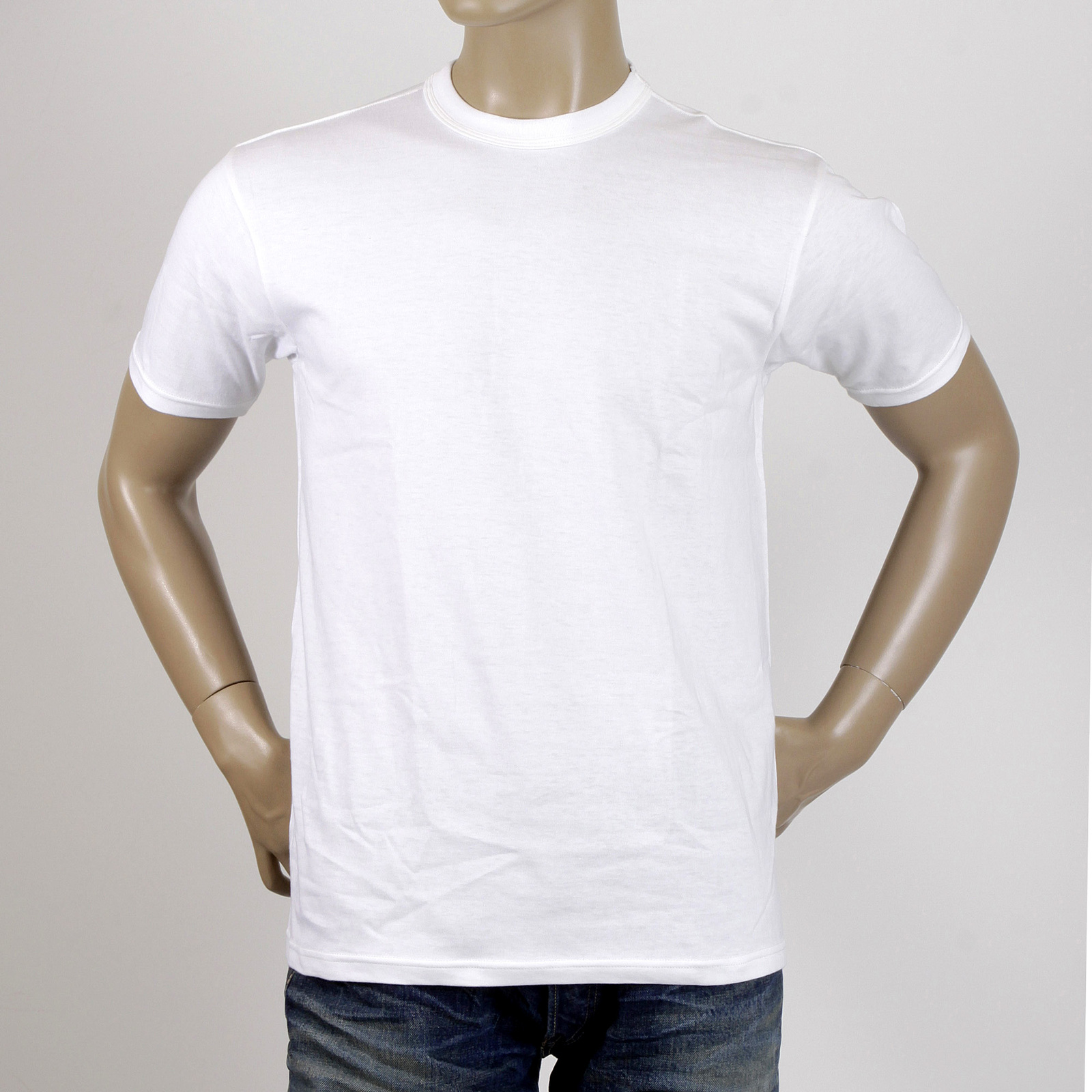 Stylish crew neck white cotton t shirt by whitesville for Crew neck white t shirt