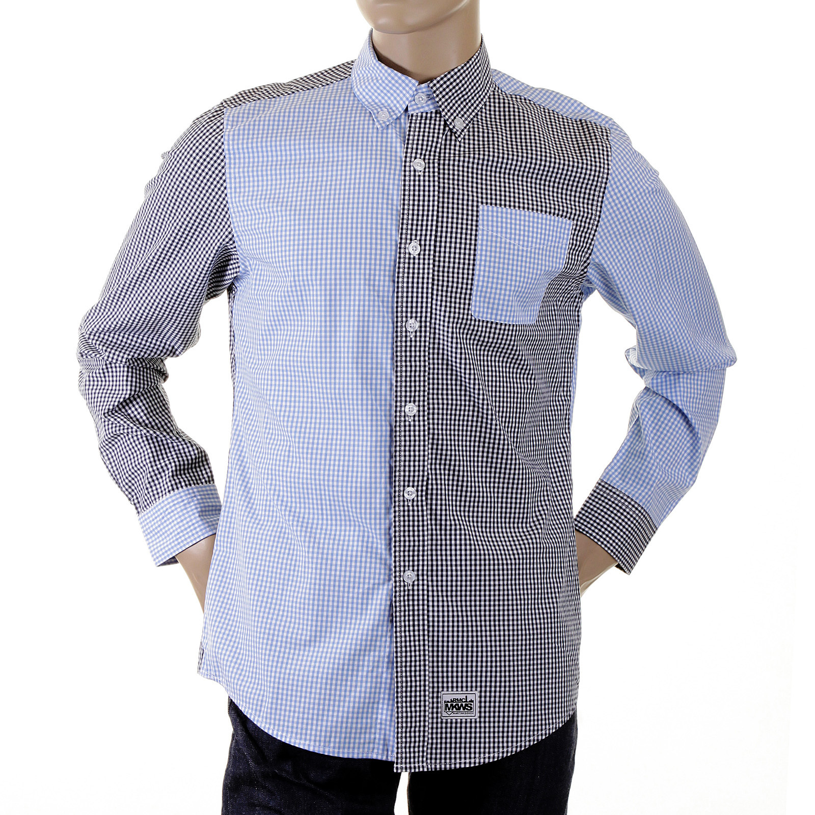 6c4fabdb Novelty Black and Blue Check Shirt by Red Monkey Jeans