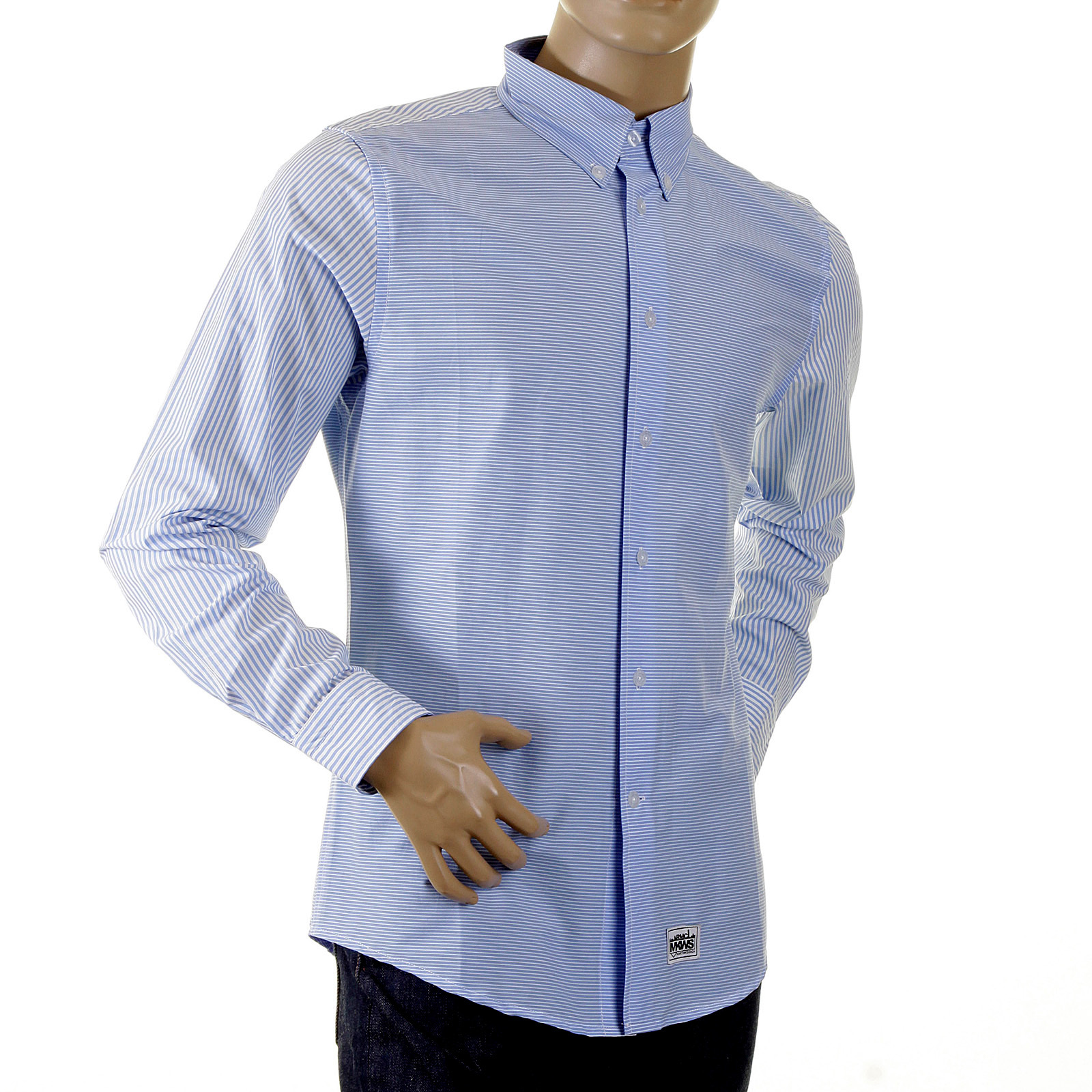 Shop For Mens Blue Striped Shirt By Rmc Mkws At Togged