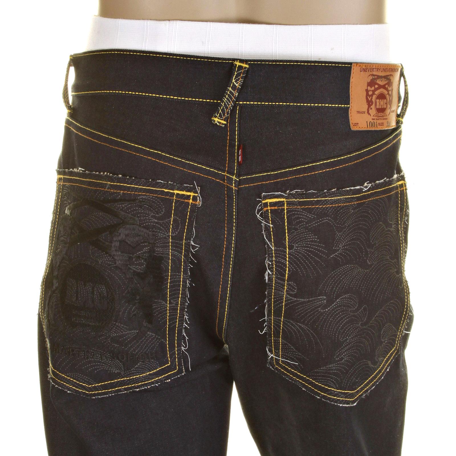 Dark Indigo Raw Selvedge Denim Jeans from Red Monkey