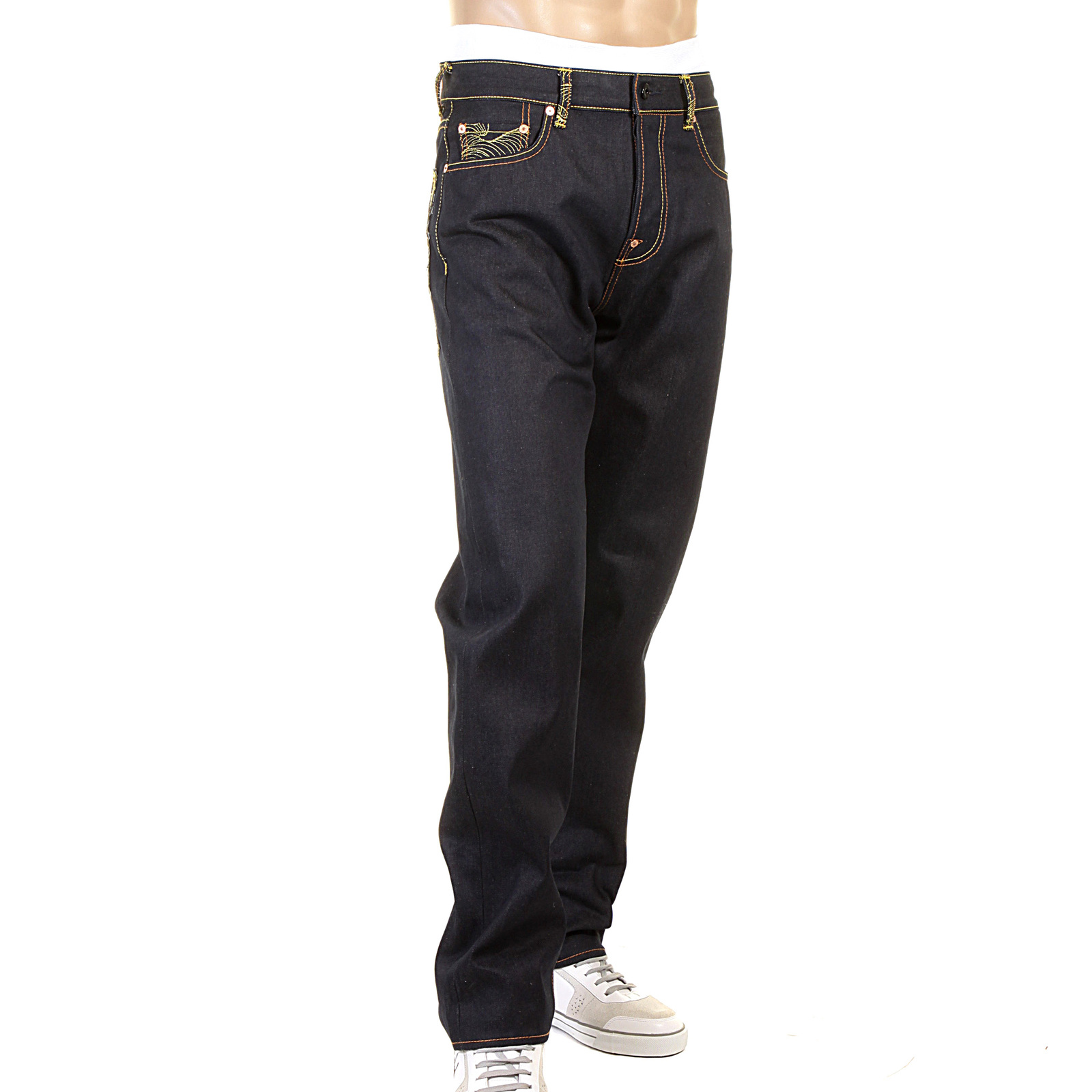 10 of the Best Men's Selvedge Denim Jeans. The Petit Standard is our favourite jean model from A.P.C, stiff Japanese Raw Selvedge that ages perfectly. Petit Standards have a straight but fitted leg, creating a close silhouette without being skinny. The essential pair of everyday Raw Selvedge.