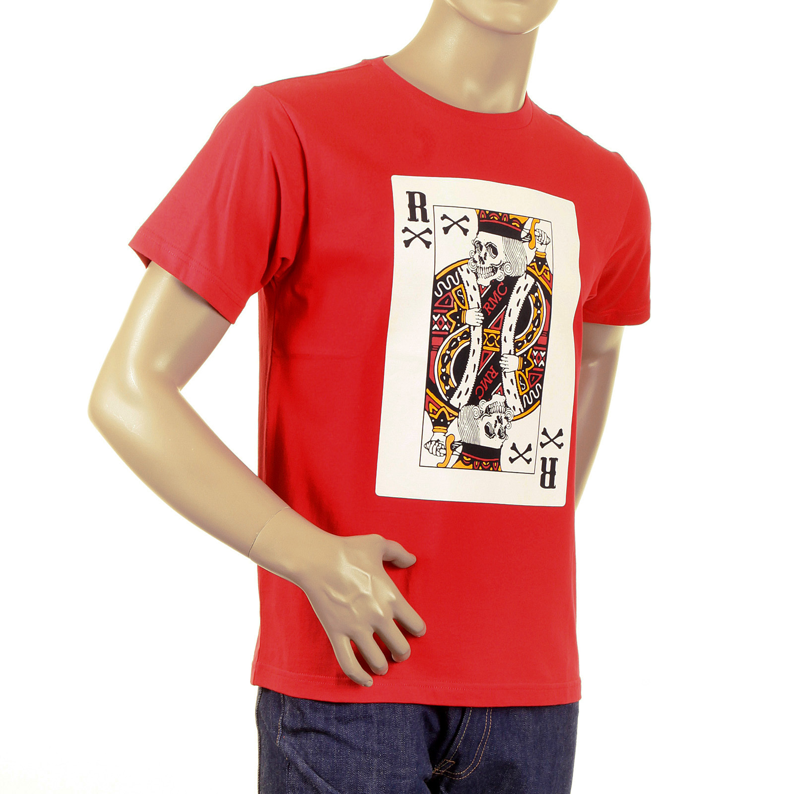 c1d9ac08987aa Red Short Sleeve Skull Poker Playing Card RMC T Shirt