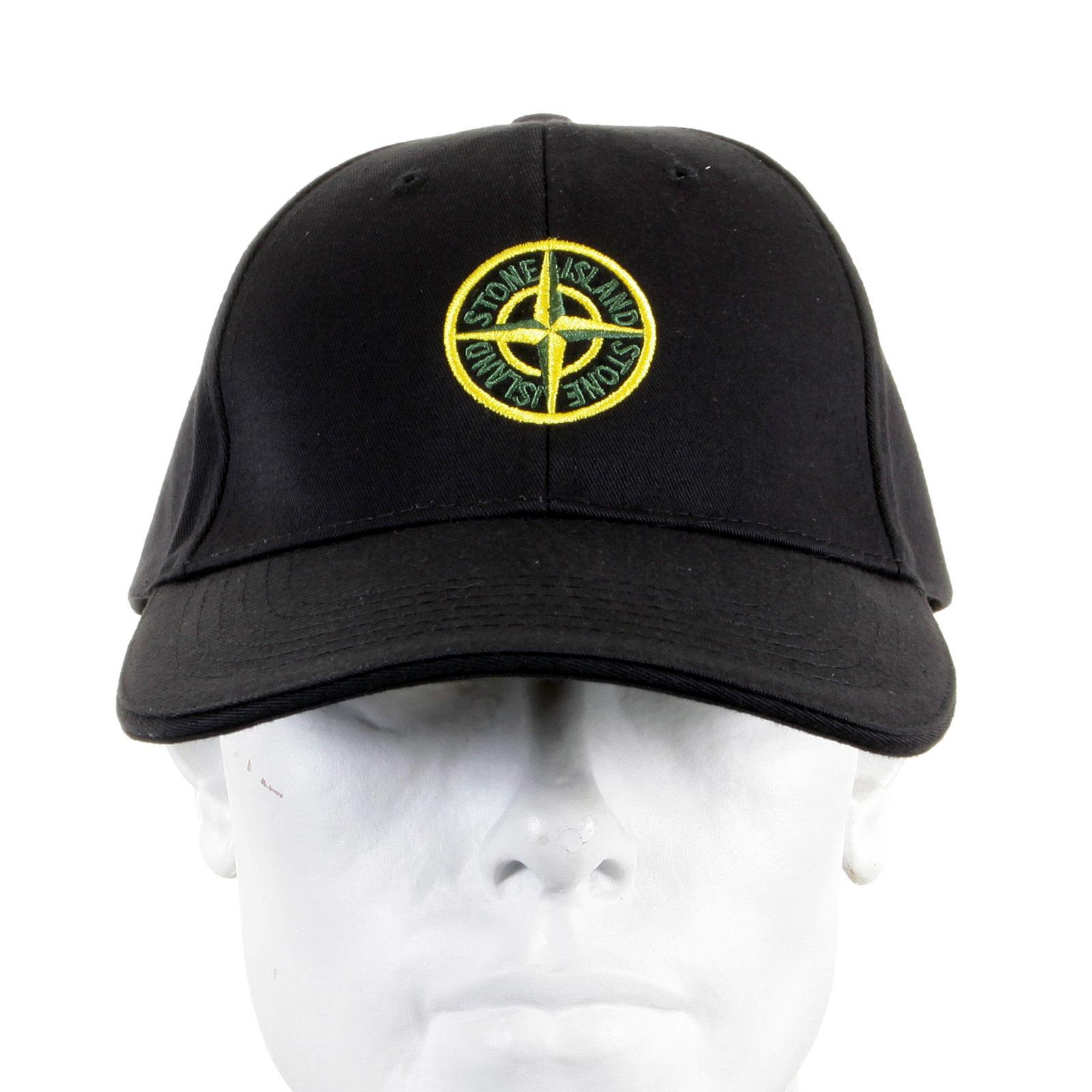 6714b9a1f21 Stone Island Cap black cotton baseball cap SI2756 at Togged Clothing