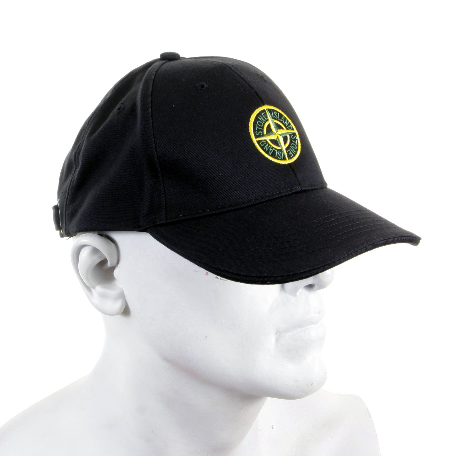 8783c12a534a7 Stone Island Cap black cotton baseball cap SI2756 at Togged Clothing