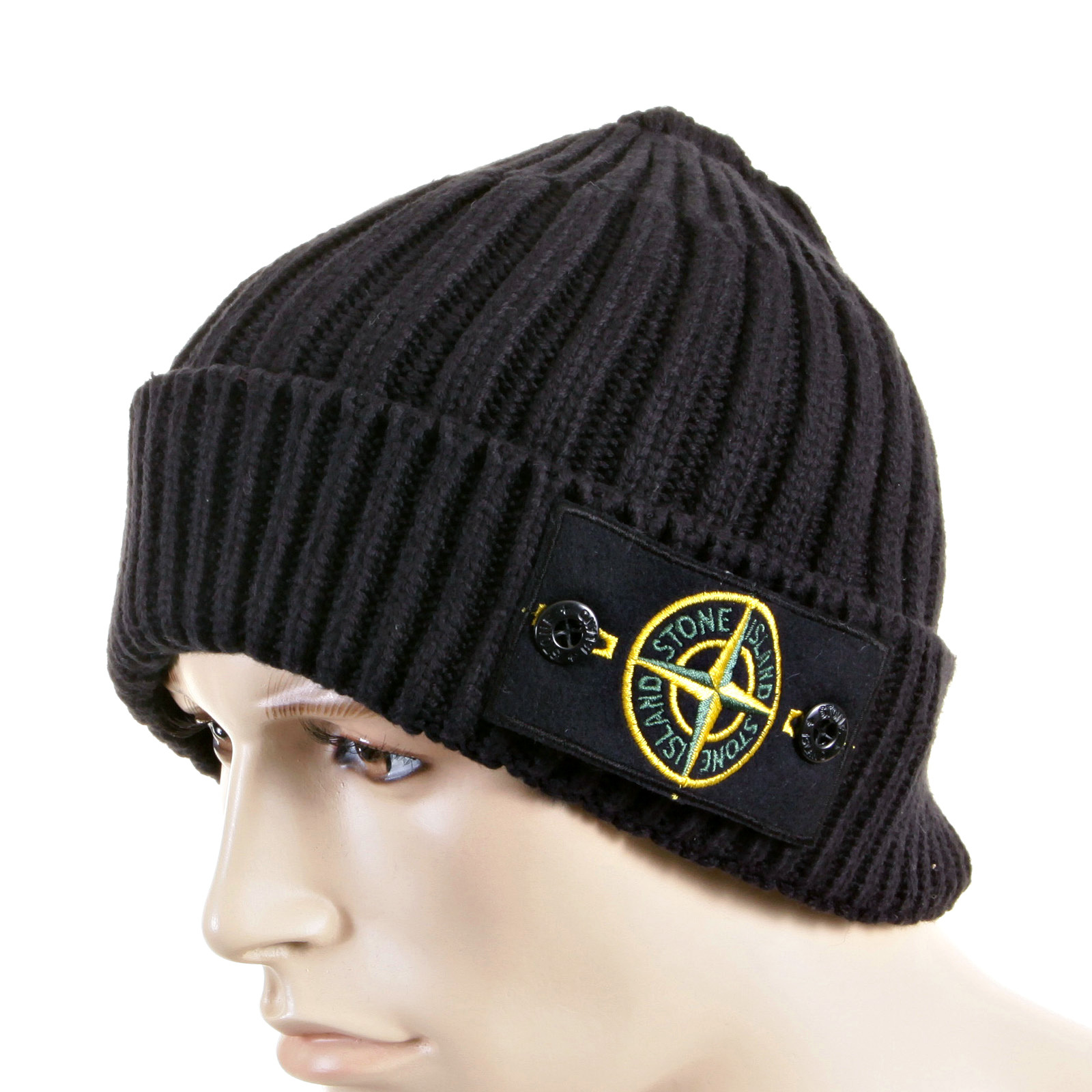 Stone Island Beanie Hat navy roll beanie hat 5515N01D5 SI2758 at Togged  Clothing 1f6c1e6e542