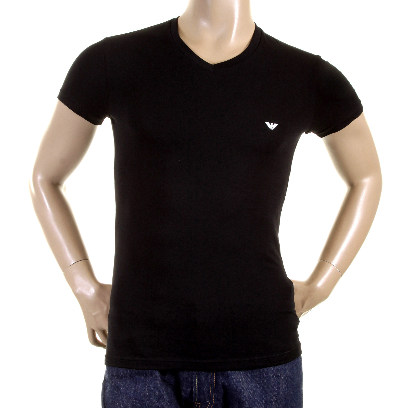 emporio armani t shirts black v neck t shirt 110752 cc518. Black Bedroom Furniture Sets. Home Design Ideas
